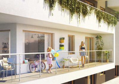 Platinium Apartamenty - zewnętrzne wizualizacje osiedla